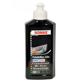 Γυαλιστικό & Κερί με χρώμα μαύρο Nano 250ml