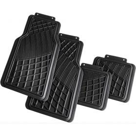 Automax Πατάκια Premium Σχάρα Σετ 4τεμ με velcro Μαύρα