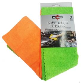 Automax Πανιά Μικροϊνών Σετ 2 τεμ. 50 Χ 50εκ Πρασινο/Πορτοκαλί 300γρ